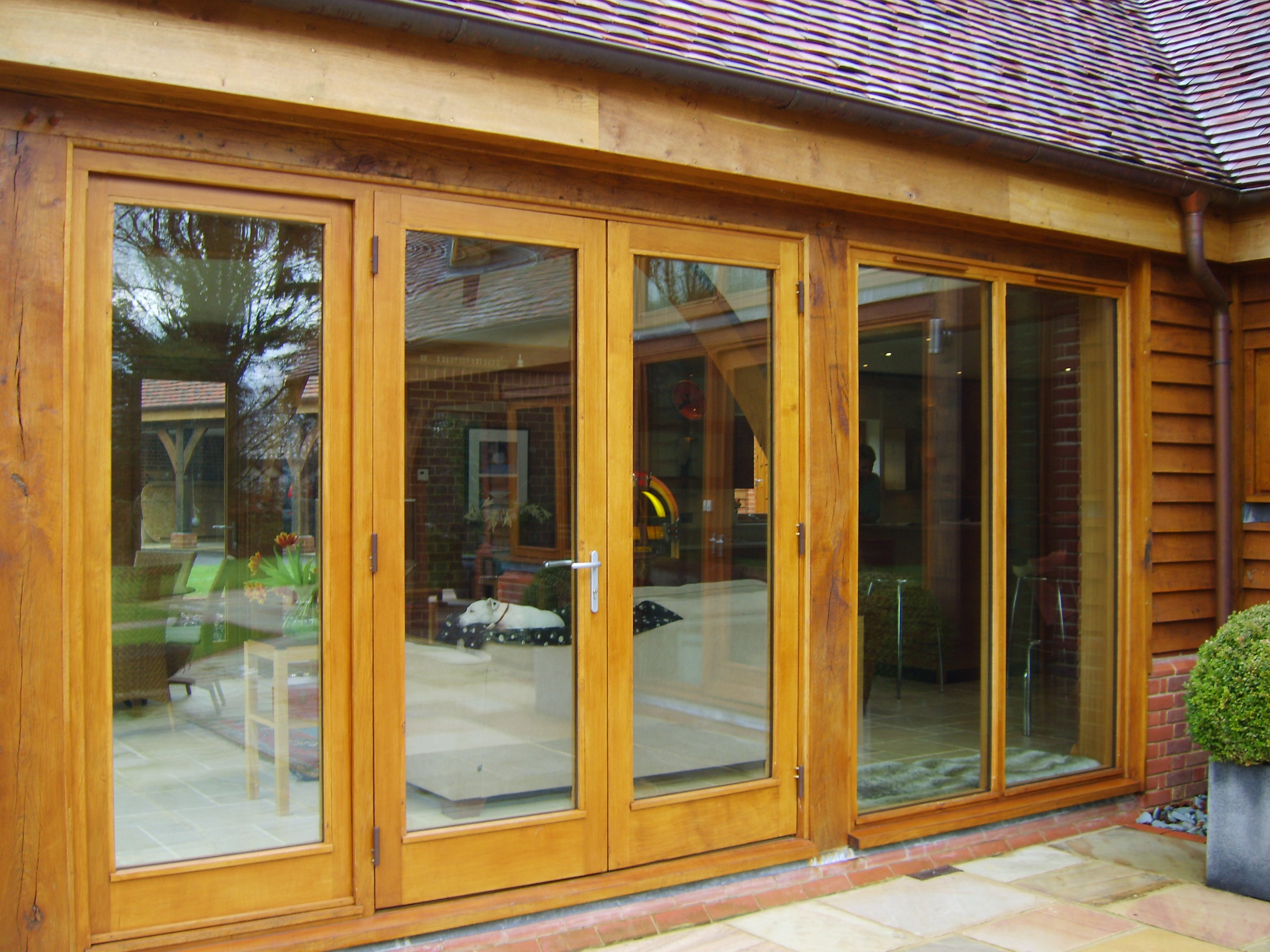 Contemporary Oak French Doors