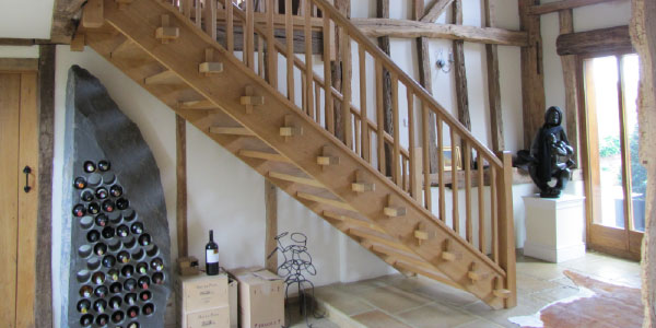 wooden staircase from AA Taylor, Craftsmen Joinery in Brighton & Hove