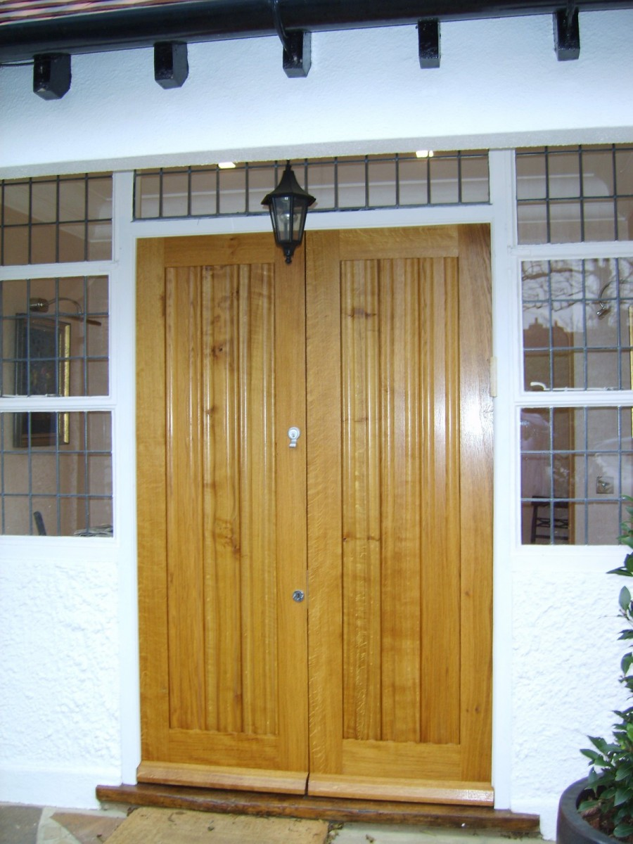 Pair Oak Front Doors