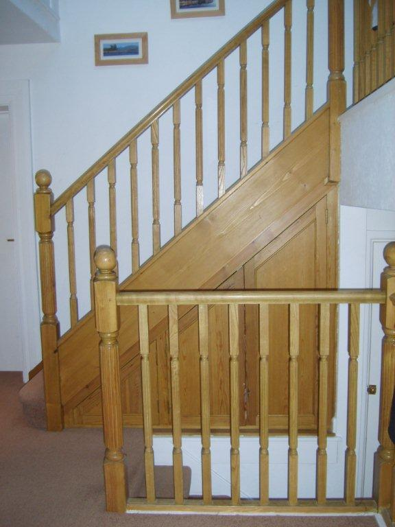 Softwood stained Stairs